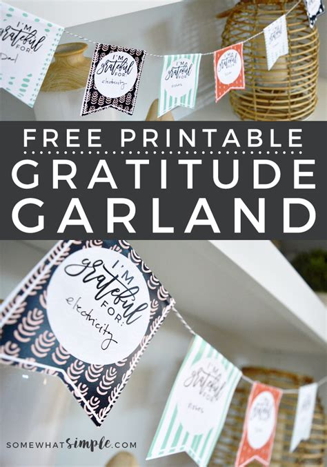 gratitude crafts for thanksgiving crafts free printable gratitude garland