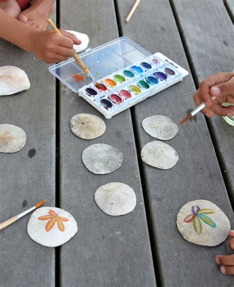 sand dollar craft projects painting sand dollars babyccino daily tips children