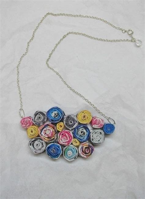 paper craft earrings recycled magazine necklace 183 a magazine necklace