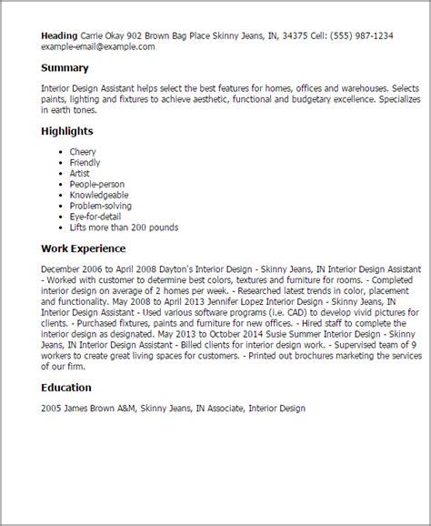 interior design resume templates resume templates interior design assistant interior
