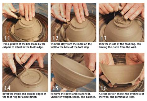 how to make ceramic tips for trimming bowls on the pottery wheel