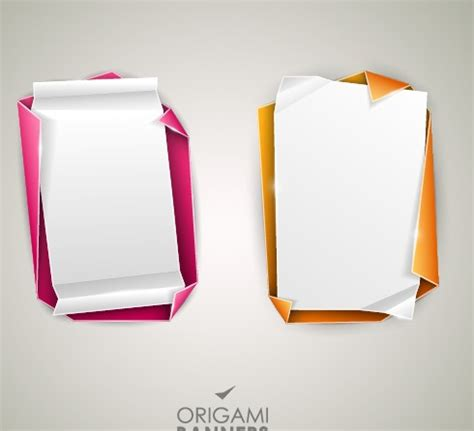 origami banner vector creative origami banner design vector 05 vector banner