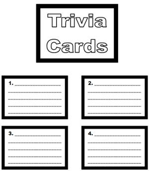 how to make question cards for a board board book report project templates printable
