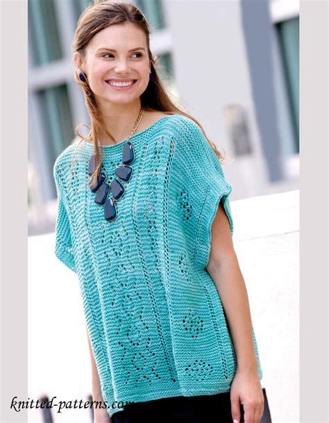 summer knitting patterns summer pullover knitting pattern free