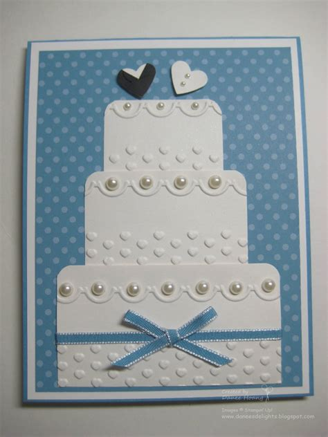 how to make wedding cards danee s stin delights wedding cake card