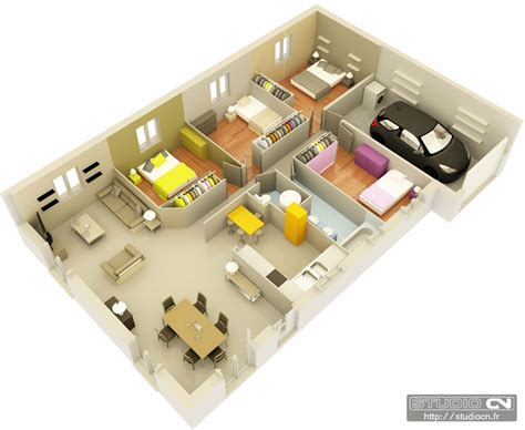 Small House Plans With Loft Bedroom maisons top duo 169 plans 3d 233 clat 233 s