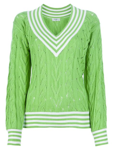 green cable knit sweater c 233 line vintage cable knit sweater in green lyst