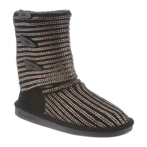 knit boots womens bearpaw knit metallic 14 inch s boots