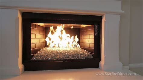 fireplace glass how to install an h burner and glass in your