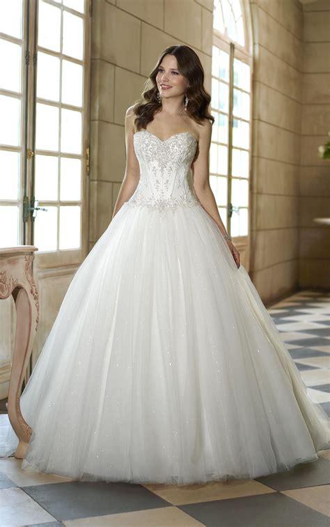 beaded corset wedding dress sparkling strapless sweetheart beaded corset gown