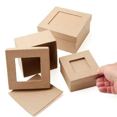 square craft paper paper mache picture frame square box set paper mache