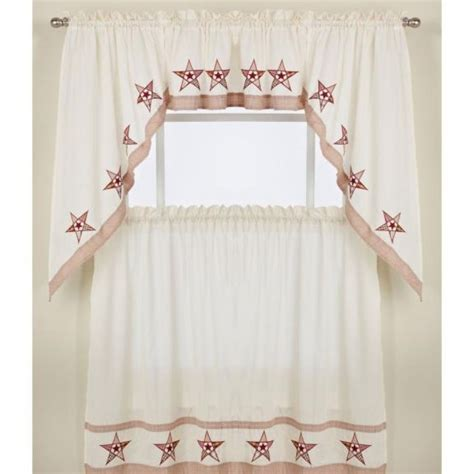 kitchen swag curtains valance kitchen tier curtains swag pair and valance country