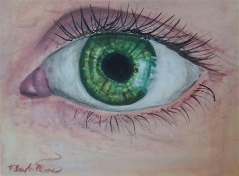 acrylic paint eye realistic eye speed painting in acrylic