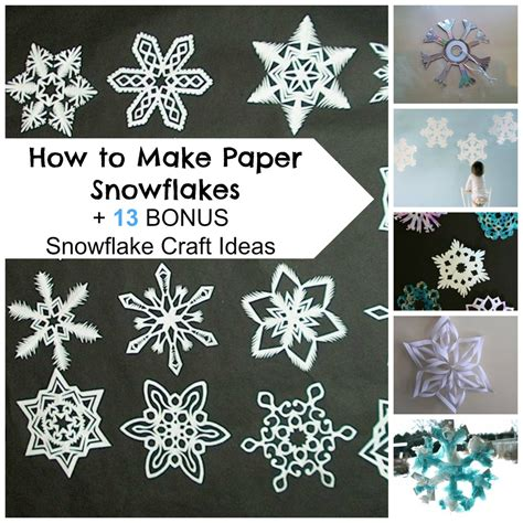 snowflakes crafts for how to make paper snowflakes 13 bonus snowflake craft