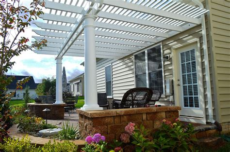 vinyl pergola kit low maintenance vinyl pergola kit shades patio virginia