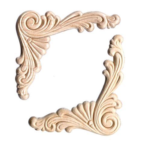 scroll woodwork wood appliques scroll corner 2pc