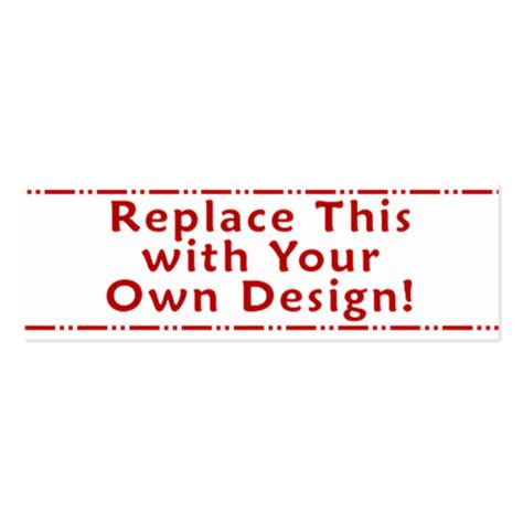 make your own card template create your own custom personalized bookmark sided