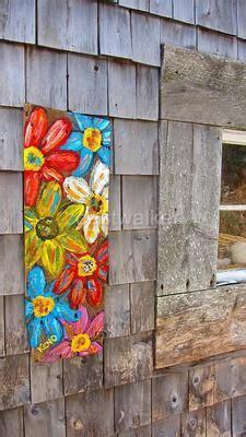 folk acrylic paint barn wood best 25 folk flowers ideas on