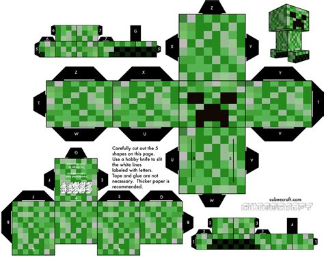 how to craft paper minecraft make your own papercraft creeper with this free pattern