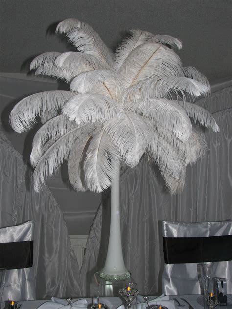 feathers for centerpieces feather centerpieces favors ideas