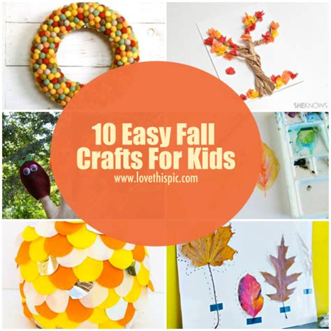 simple fall crafts for 10 easy fall crafts for