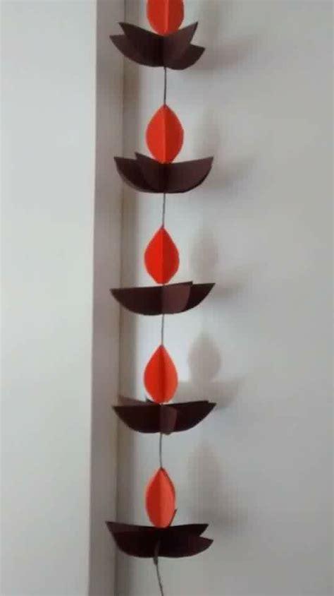 diwali paper craft hanging paper diyas diwali decor ideas
