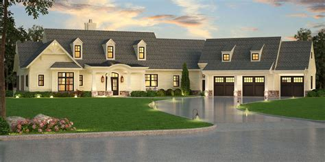 the home designers craftsman house plan with in suite