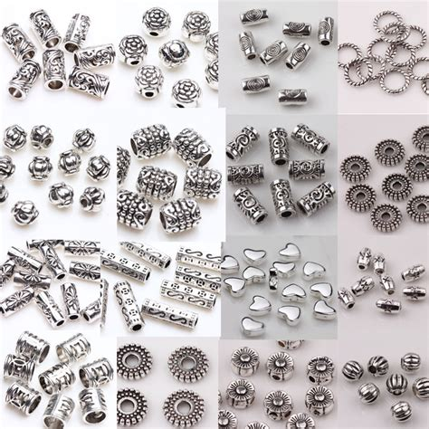 how to make metal jewelry charms wholesale 50 100pcs silver plated spacer