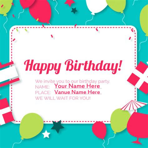make a birthday card with name invitation card names infoinvitation co