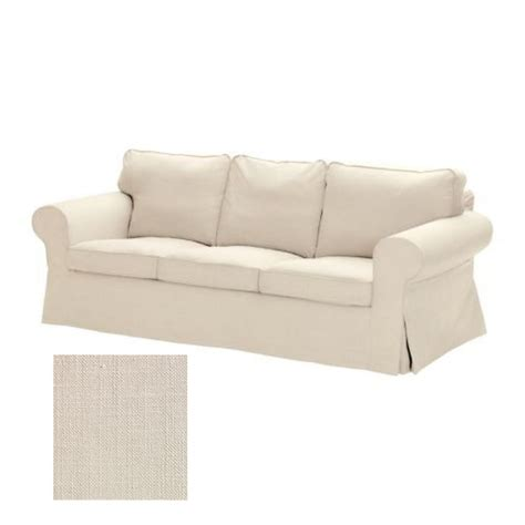 ikea slipcovers fit other sofas ikea ektorp 3 seat sofa slipcover cover svanby beige linen