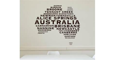 name wall stickers australia australian map city names modern wall stickers