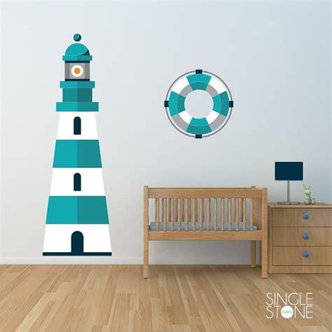 nautical wall stickers lighthouse wall decal nautical nursery vinyl wall sticker