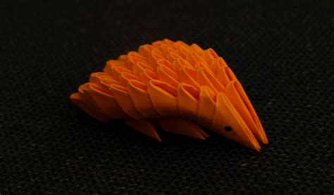 origami hedgehog hedgehog 3d origami by denierim on deviantart