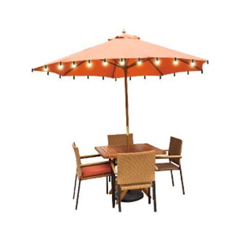 patio umbrellas with solar lights solar umbrella lights walmart