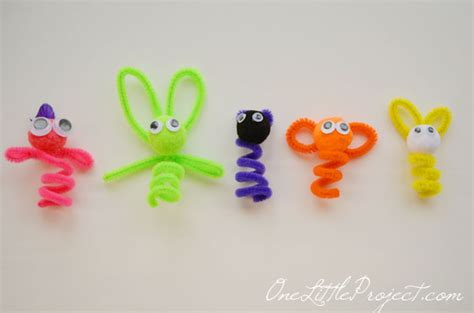 easy pipe cleaner crafts for pipe cleaner finger puppets