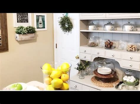 kitchen refresh ideas home decor restyling our kitchen hutch kitchen hutch decor ideas kitchen refresh