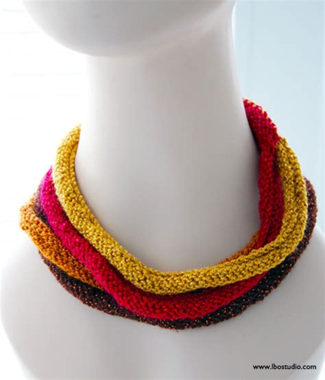 how to knit a necklace designer craft connection multistrand knit necklace