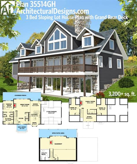 sloping lot house plans 61 best homes for the sloping lot images on
