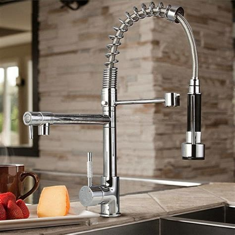 kitchen sinks and faucets byb 174 chrome modern designer single handle pull out spray pre rinse kitchen sink tap