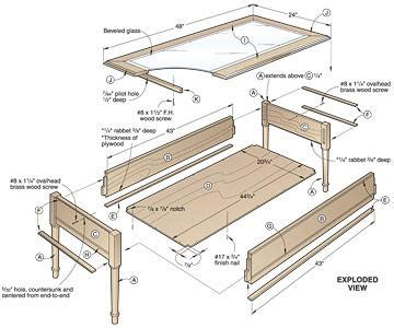 woodworking blueprint maker wooden coffee table plans diywoodtableplans
