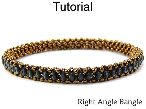 right angle bead weave beading tutorial pattern bracelet tubular right angle