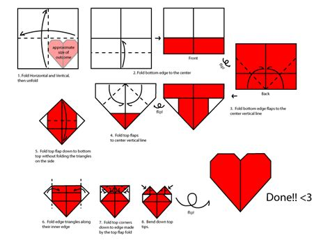 Image How To Make Paper Hearts Origami