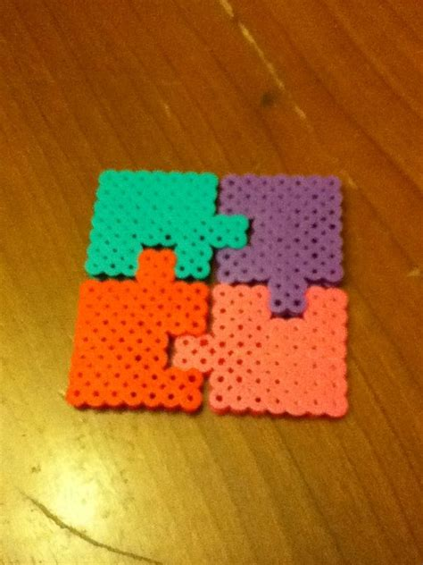 fuse bead creations best friend puzzle pieces perler bead creations