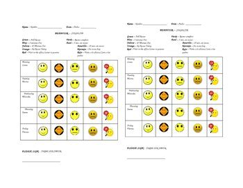 Exle Of Behavior Modification Chart by Bilingual Behavior Chart With Recess Times By The
