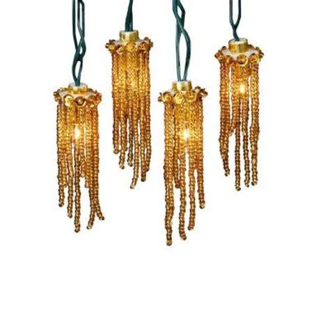 gold icicle lights kurt s adler 10 light gold beaded indoor icicle light set