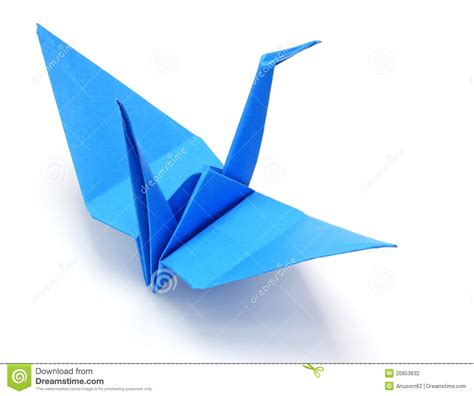 blue origami paper blue origami paper crane stock photography image 20953832