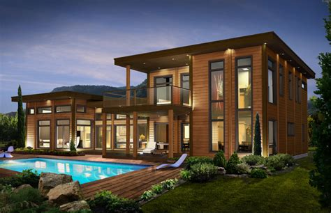 maison bois contemporaine et 233 colo