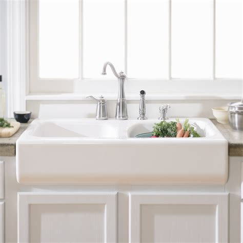 kitchen apron sinks lyons industries dks deluxe apron front dual basin acrylic