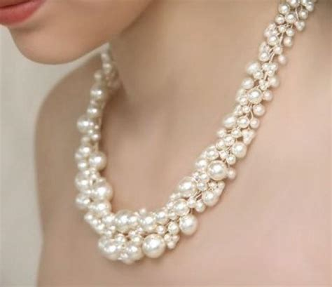 pearl for jewelry bridal pearl statement necklace and pearl cluster dangly