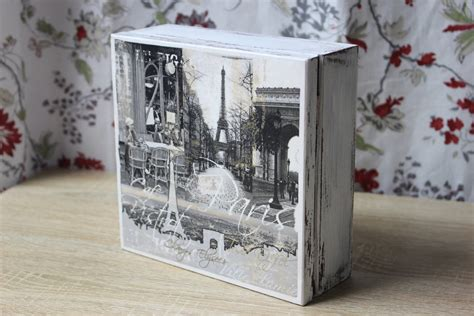 decoupage pictures on wood wooden box decoupage tutorial link on yt by